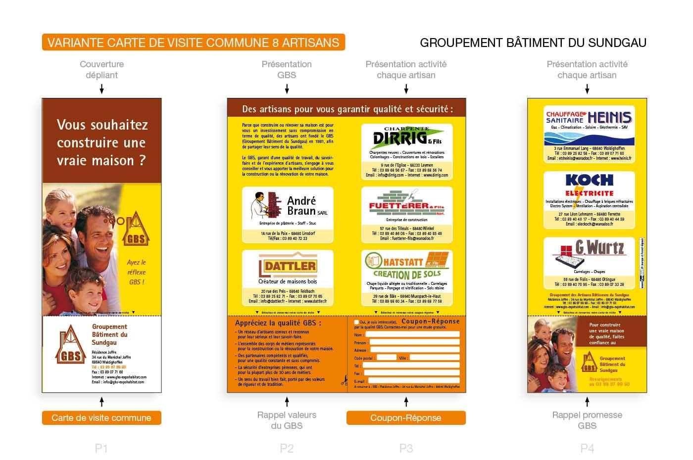 Dpliant CardMail Pour Le GBS Groupement Btiment Du Sundgau